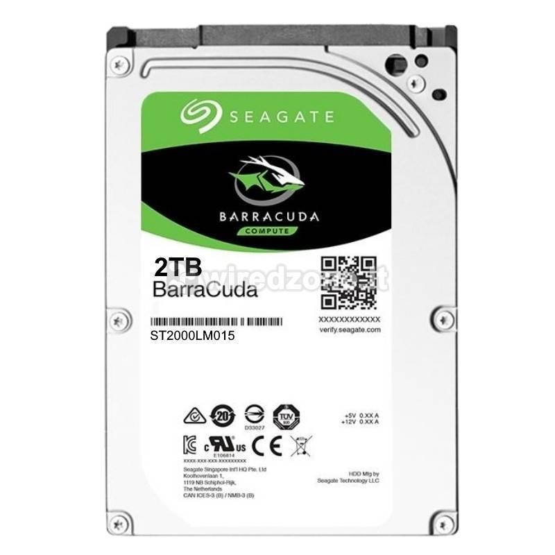 """Seagate BarraCuda HDD, SATA 6G, 5400 RPM, 2,5"""" - 2 TB - 1"""