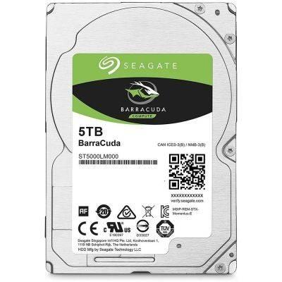 """Seagate BarraCuda HDD, SATA 6G, 5400 RPM, 2,5"""" - 5 TB - 1"""