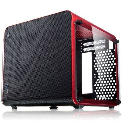 Raijintek METIS EVO TG Mini-ITX Case, Tempered Glass - Red - 1
