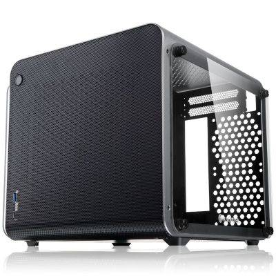 Raijintek METIS EVO TG Mini-ITX Case, Tempered Glass - Silver - 1
