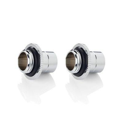 """Bitspower Touchaqua Link Adapter Male G1/4"""" AG On Link Tube 16-22mm - 2x Pack, Silver - 1"""