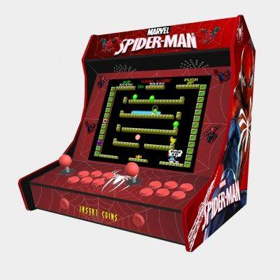 "Spiderman Bartop Weecade Cabinet Arcade Two Players 19"" LCD - 1"