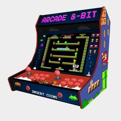 "Arcade 8-BIT Bartop Weecade Cabinet Arcade Two Players 19"" LCD - 1"