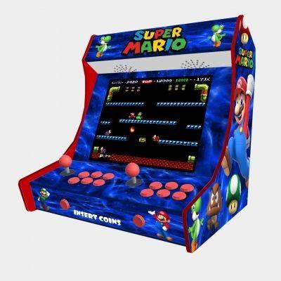 "Super Mario Bartop Weecade Cabinet Arcade Two Players 19"" LCD - 1"