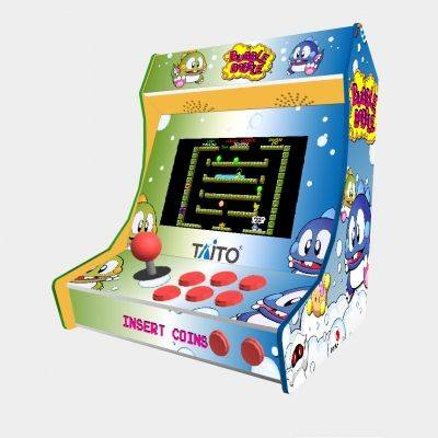 "Bubble Bobble Bartop Minicade Cabinet Arcade One Players 10"" LCD - 1"