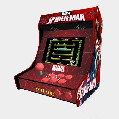 "Spiderman Bartop Minicade Cabinet Arcade One Players 10"" LCD - 1"