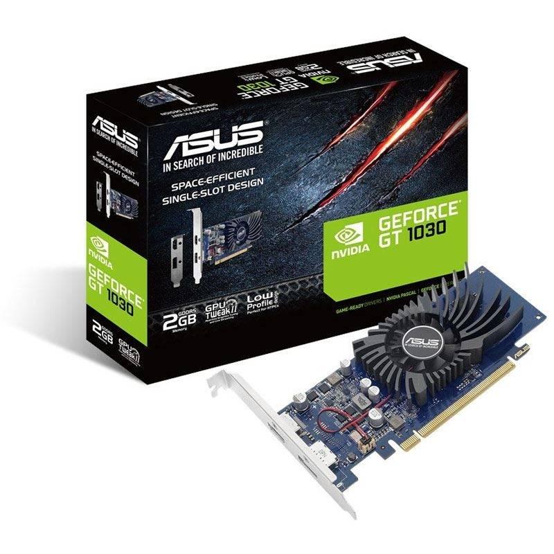 ASUS GeForce GT 1030 2G, 2048 MB GDDR5 - Single Slot, Low Profile - 1