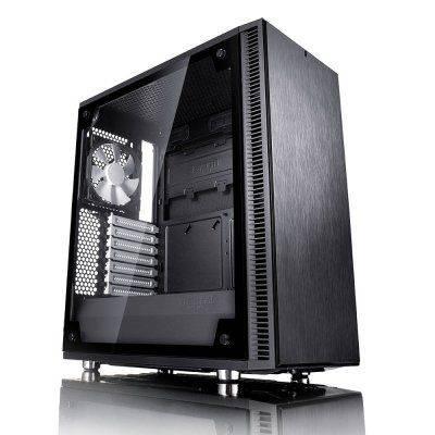 Fractal Design Define C TG Midi-Tower, Black, Tempered Glass