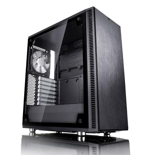 Fractal Design Define C TG Mid-Tower, Black, Tempered Glass - 1