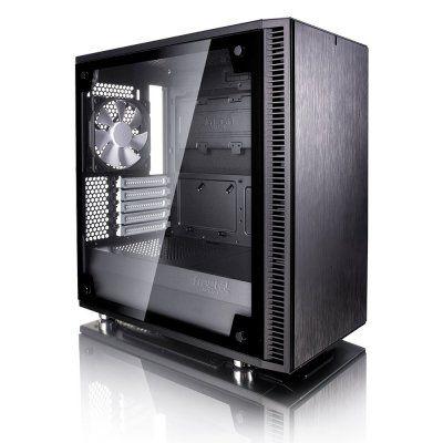 Fractal Design Define Mini C Tempered Glass Micro ATX Case - Black