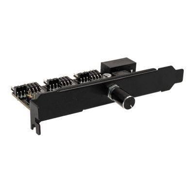 Lamptron CFP30 RGB LED Controller for Fans PCI-Slot - Black - 1