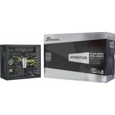 Seasonic Prime Fanless TX PSU, 80 PLUS Titanium, Modular - 450 Watt - 1