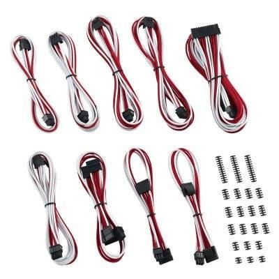CableMod Classic ModMesh C-Series Cable Kit Corsair RMi & RMx - White/Red - 1