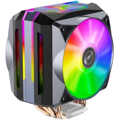Jonsbo CR-1100 CPU Cooler, ARGB - 2x 120mm, Grey - 1