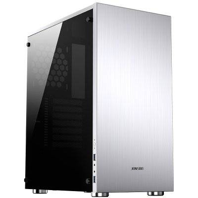 Jonsbo C5 Mid-Tower, Tempered Glass - Silver - 1