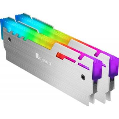 Jonsbo NC-3 2x ARGB RAM Cooler - Silver - 1