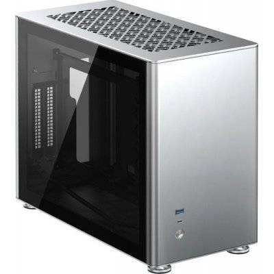Jonsbo A4 Mini-ITX Case, Tempered Glass - Silver - 1