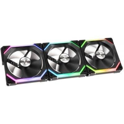 Lian Li UNI FAN SL120 RGB PWM Fan Black, 3x Pack + Controller - 120 mm - 1