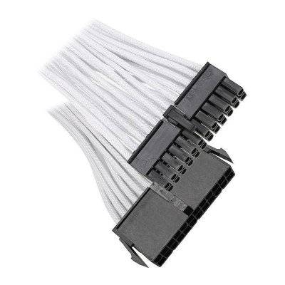 BitFenix 24-Pin ATX Extension 30cm - Sleeved White/Black - 1