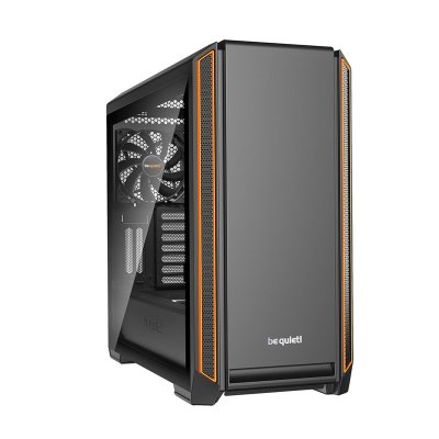 be quiet! Silent Base 601 Mid-Tower, Tempered Glass - Orange - 1