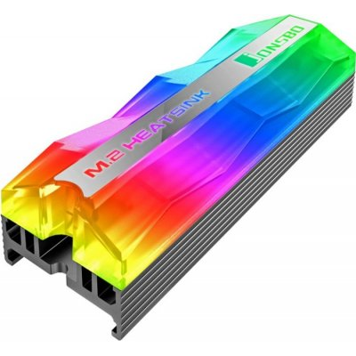 Jonsbo M.2-2 Mirage Edition M.2 SSD Passive Cooler, ARGB - Grey - 1