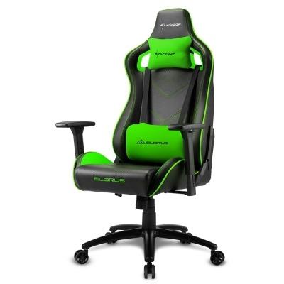 Sharkoon ELBRUS 2 Gaming Chair, Black / Green - 1