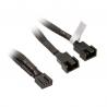Akasa PWM Y-Cable Sleeved - 15cm - 2