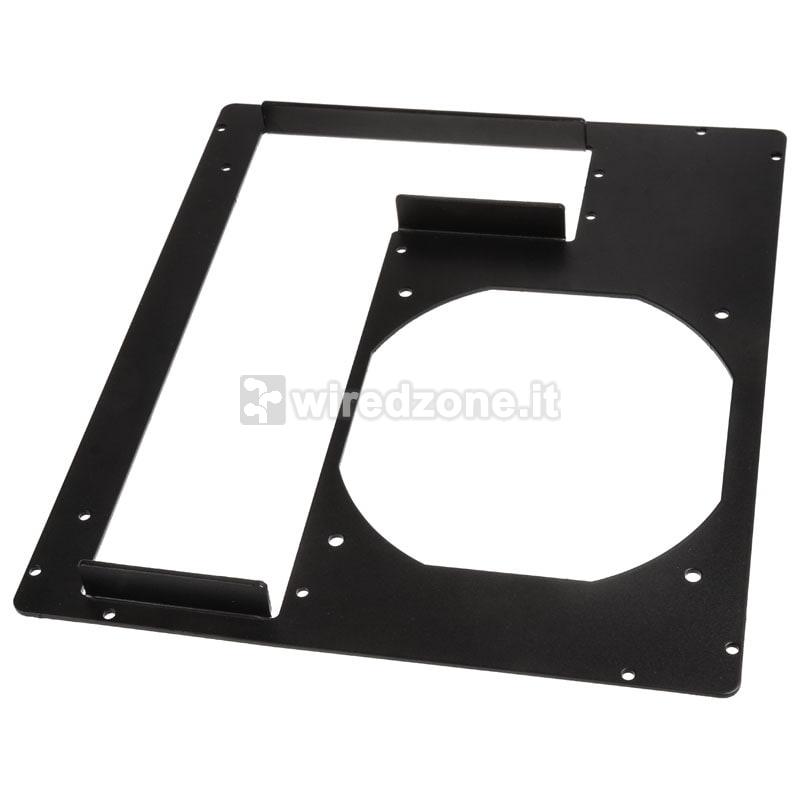 DimasTech PCI Back Panel Mini-ITX, 2 Slots - Black Graphite - 1