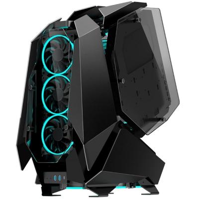 Jonsbo MOD5 Full-Tower Showcase, Tempered Glass - Black - 1