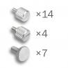DimasTech Benchtable NANO Silver ThumbScrews Kit - 1