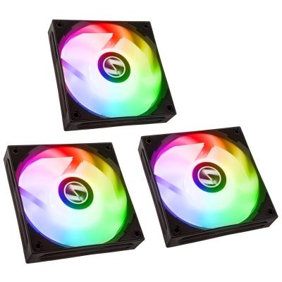 Lian Li ST120 RGB PWM Fan, 3x Pack + Controller, Black - 120mm - 1