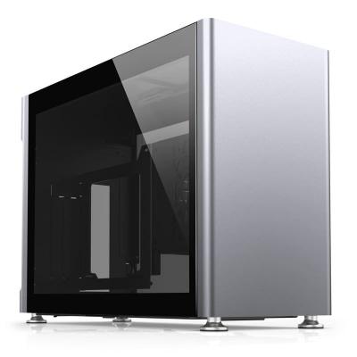 Jonsplus i100 Pro Mini-ITX Case, Side Glass - Silver - 1