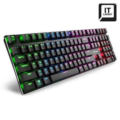 Sharkoon PureWriter RGB, Mechanical Gaming Keyboard, Blue Kailh - Layout IT - 1