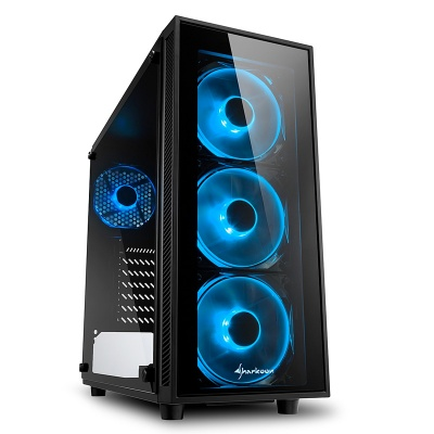 Sharkoon TG4 Blue Mid-Tower, Side Glass - Black - 1