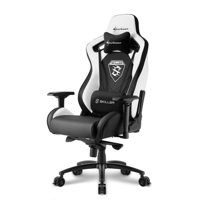 Sharkoon SKILLER SGS4 Gaming Chair - Black / White - 1