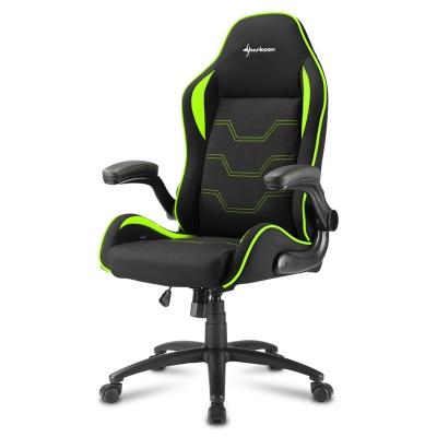 Sharkoon ELBRUS 1 Gaming Chair, Black / Green - 1