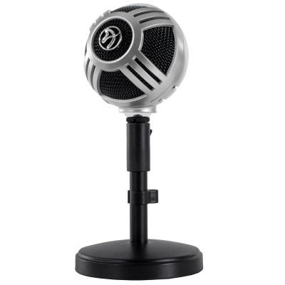 Arozzi Sfera Table Microphone, USB - Chrome - 1