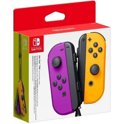 Nintendo Switch Set 2 Joy-Con - Viola Neon / Arancione Neon - 1