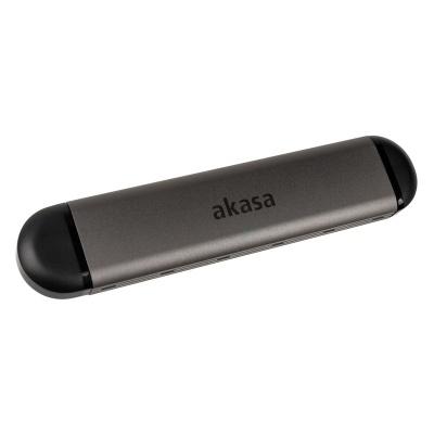 Akasa External M.2 NVMe Case, USB 3.1, Aluminium - Black - 1