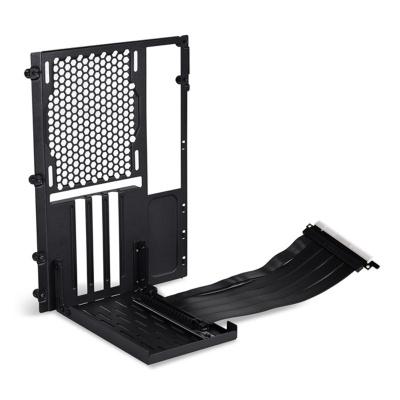 Lian Li O11D-1X-4 Mini Riser Card + PCI Slot Cover - PCIe 4.0, Black - 1