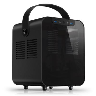 Jonsplus BO 100 Mini-ITX Case, Side Glass - Black - 1