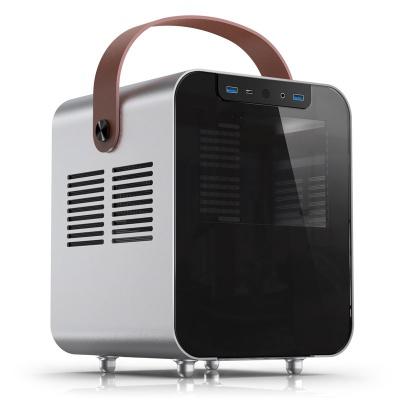 Jonsplus BO 100 Mini-ITX Case, Side Glass - Silver - 1