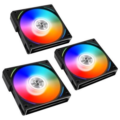 Lian Li UNI FAN AL120 RGB PWM Fan Black, 3x Pack + Controller - 120mm - 1