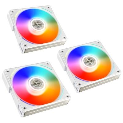 Lian Li UNI FAN AL120 RGB PWM Fan White, 3x Pack + Controller - 120mm - 1