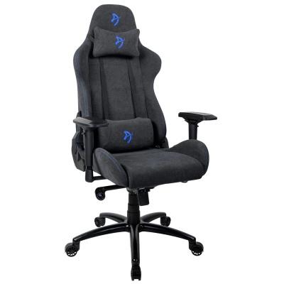 Arozzi Verona Signature Gaming Chair, Soft Fabric - Anthracite / Blue - 1