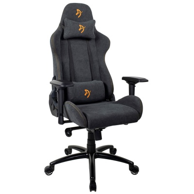 Arozzi Verona Signature Gaming Chair, Soft Fabric - Anthracite / Gold - 1