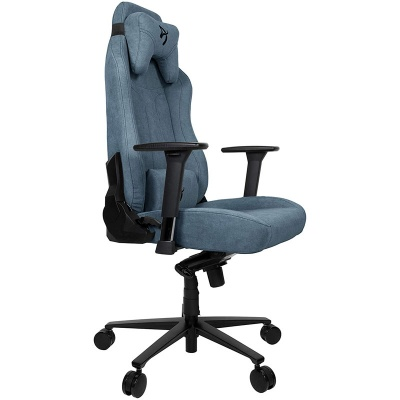 Arozzi Vernazza Gaming Chair, Soft Fabric - Blue - 1
