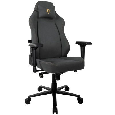 Arozzi Primo Gaming Chair, Woven Fabric - Black / Gold - 1