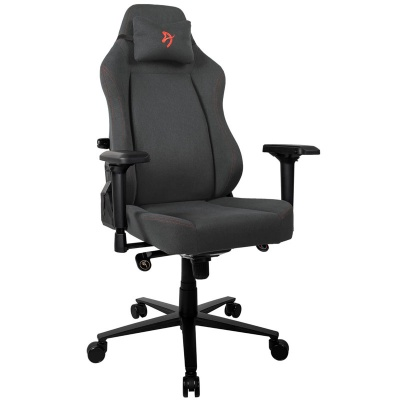 Arozzi Primo Gaming Chair, Woven Fabric - Black / Red - 1