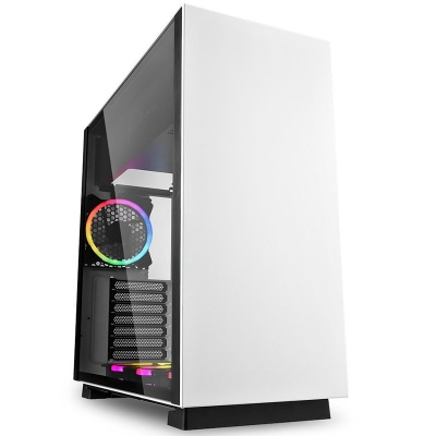 Sharkoon Pure Steel RGB Mid-Tower, Side Glass - White - 1